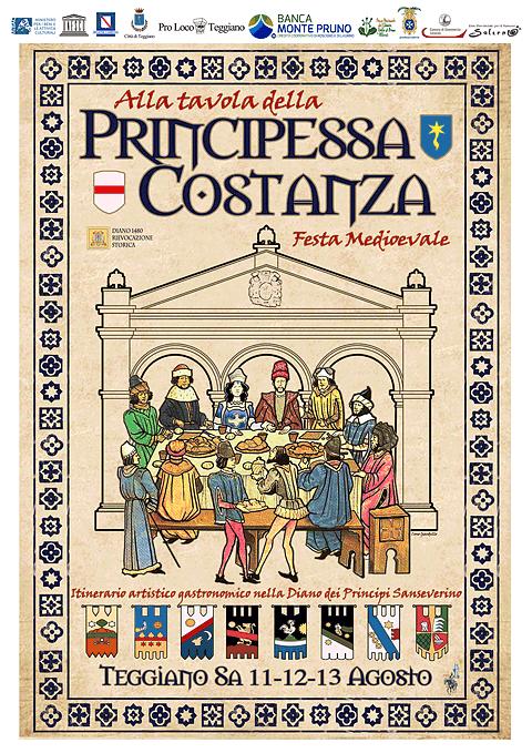 Alla tavola della principessa costanza festa medievale teggiano salerno parco - Alla tavola della longevita ...